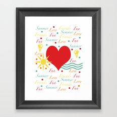 Fun, love, friends etc Framed Art Print