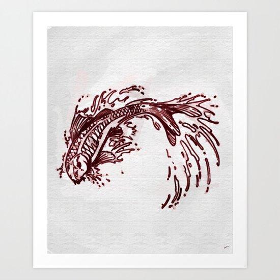Koi Splash Art Print