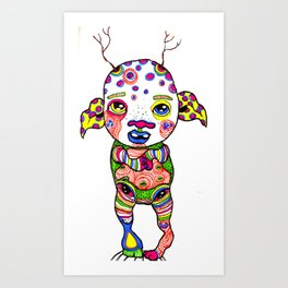 Marked Art Print