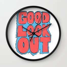 Good Lookout Bubble Letters Wall Clock