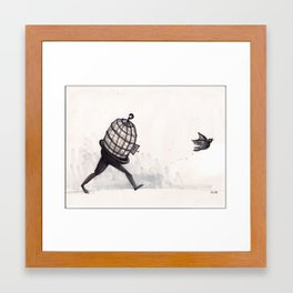 """I know why the caged bird...""  Framed Art Print"