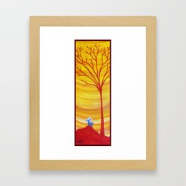 Happy Critter Tree no. 8 Framed Art Print