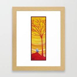 Happy Critter Tree no. 8 Framed Art Print
