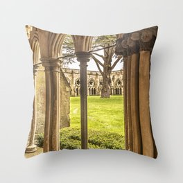 Cathedral Cloisters Throw Pillow