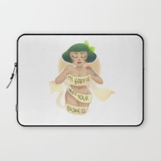 My Body Is Not Your Business Laptop Sleeve