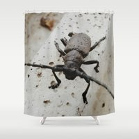 beetle Shower Curtains featuring Beetle by Bor Cvetko