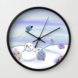 wondrous & Whimzical Places: Winter Fun Wall Clock