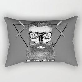 Bearded Skull Rectangular Pillow
