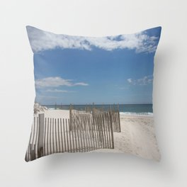 Long Island Beach Throw Pillow