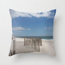 Long Island Beach Throw Pillow