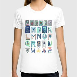 Alphabet Letter Decor Design Art Pattern T-shirt