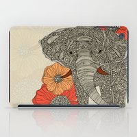 wildlife iPad Cases featuring The Elephant by Valentina Harper