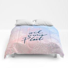Rosé S'il Vous Plaît Comforters
