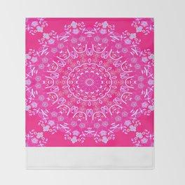 Summer Rain Mandala Throw Blanket