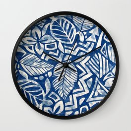 Hawaiian tribal pattern Wall Clock