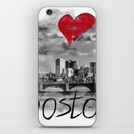 I love Boston iPhone Skin