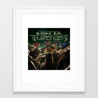 ninja turtle Framed Art Prints featuring ninja,turtle by ira gora