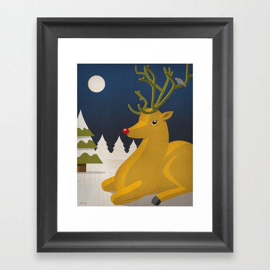 Reindeer's Strike Framed Art Print