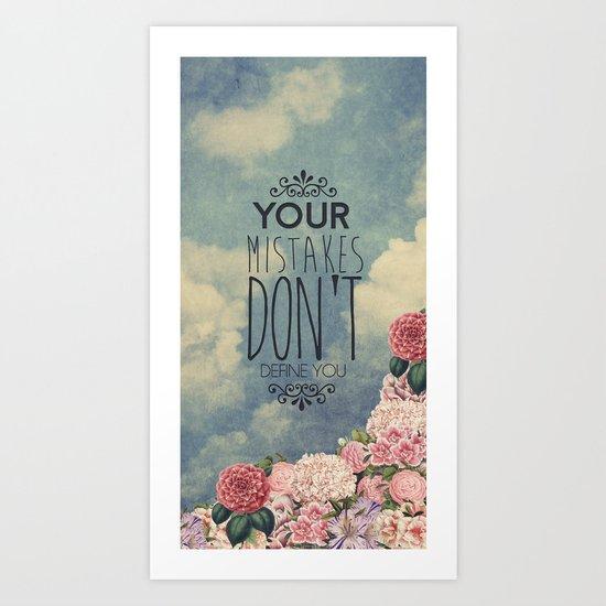 Don't define you Art Print