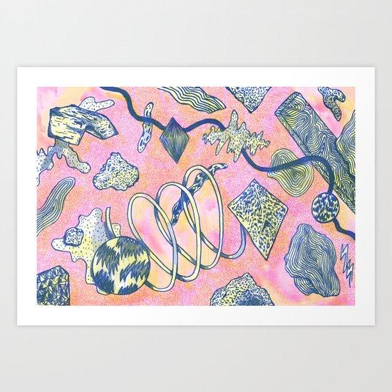 Future dust Art Print