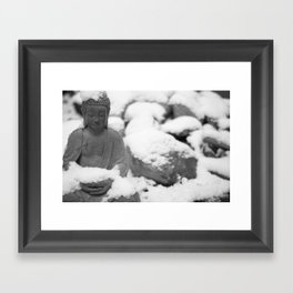Buddha in Himalaya Framed Art Print