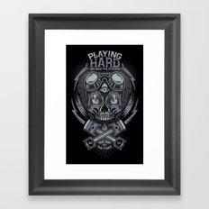 PLAYNG HARD Framed Art Print