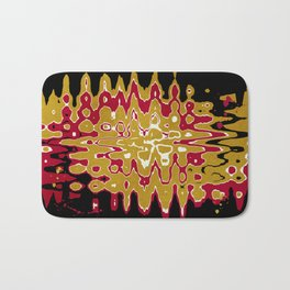 Black Gold Abstract Bath Mat