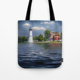 Rock Island Light - Clayton, NY Tote Bag