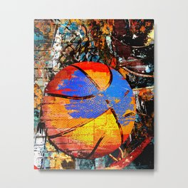 Baketball art swoosh 63 Metal Print