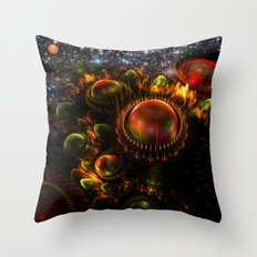 Starship Arriving Throw Pillow