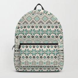 V40 Boho Vintage Anthropologie Pattern Backpack