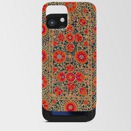 Kermina Suzani Uzbekistan Print iPhone Card Case