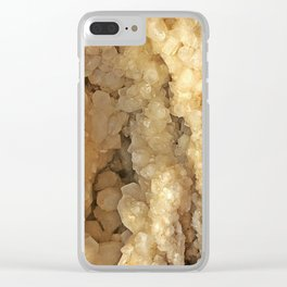 Milk Quartz Geode Clear iPhone Case