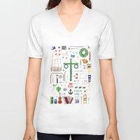 swedish V-neck T-shirts featuring swedish midsummer by N Li