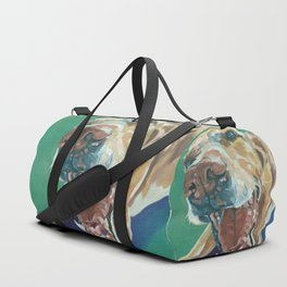 Yellow Labrador Dog Portrait Duffle Bag