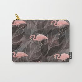 pink flamingos.. Carry-All Pouch