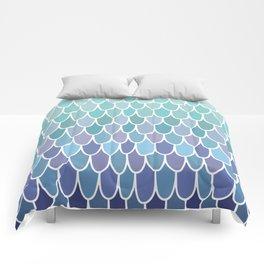 Mermaid Kids Ocean Beach Theme Pattern, Blue, Teal, Purple Comforters