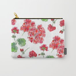 Red malvon pattern Carry-All Pouch