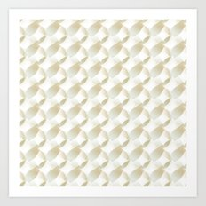 3D white pattern Art Print