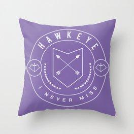 I Never Miss  Throw Pillow
