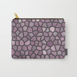 Mauve Pink Mosaic Pattern - darker Carry-All Pouch