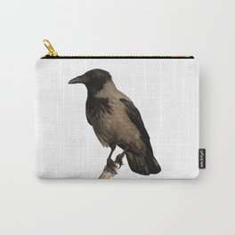 Hooded Crow Isolated Carry-All Pouch