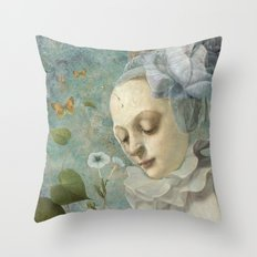 Blue Whisers Throw Pillow