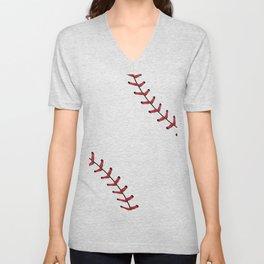 Baseball Laces Unisex V-Neck