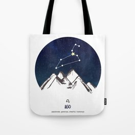Astrology Leo Zodiac Horoscope Constellation Star Sign Watercolor Poster Wall Art Tote Bag