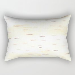 Birch Bark Watercolor Rectangular Pillow
