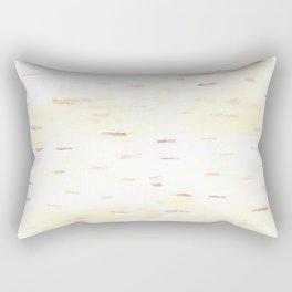Birch Bark Watercolor Rectangular Pillow