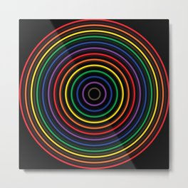 Colorful circle Metal Print