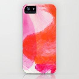 Orange Ink iPhone Case