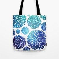 Ocean Flowers Watercolor Tote Bag